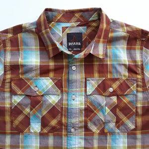 Prana Mens Shirt Size Small S Organic Cotton Blend